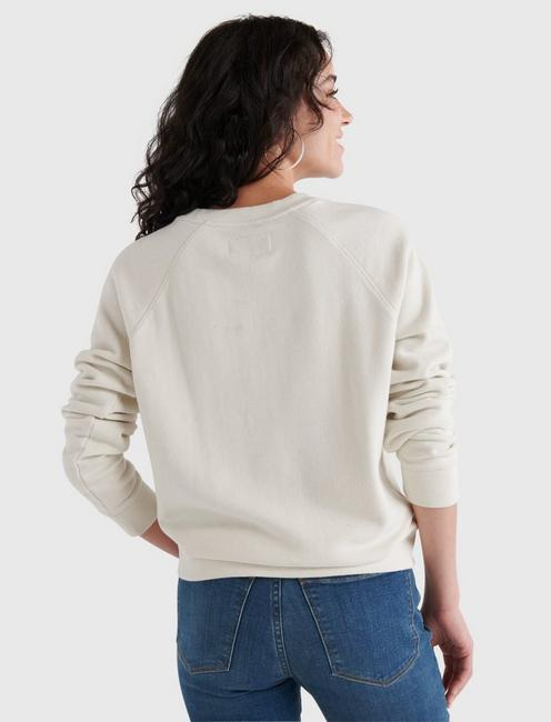 LUCKY BAR GRAPHIC CREW PULLOVER, SILVER BIRCH