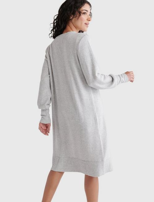 HIGH RIB CLOUD JERSEY CARDIGAN, HEATHER GREY