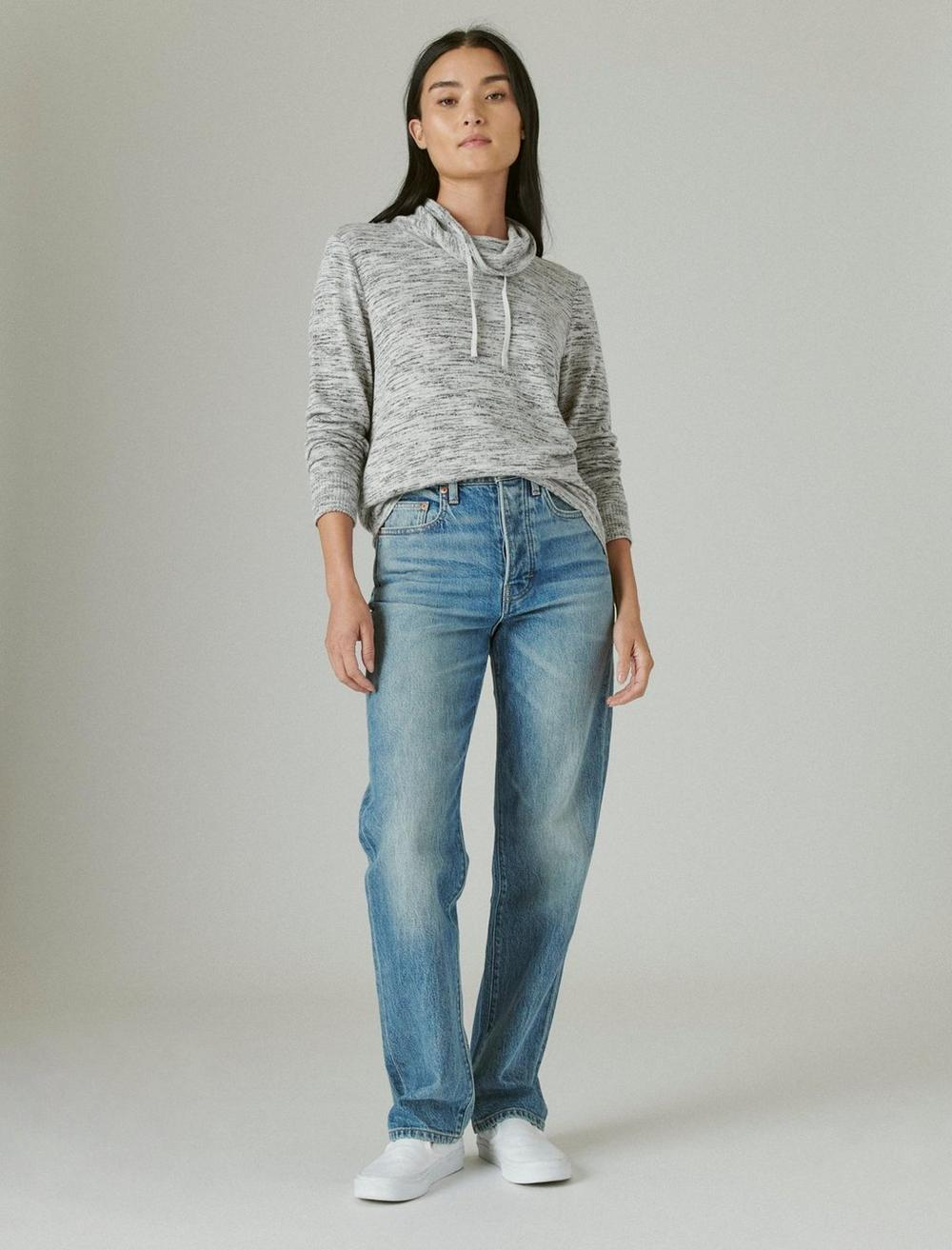 FUNNEL NECK CLOUD JERSEY PULLOVER, image 2