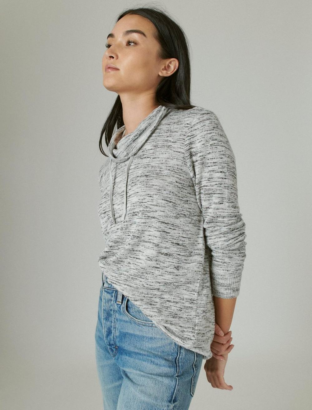 FUNNEL NECK CLOUD JERSEY PULLOVER, image 3