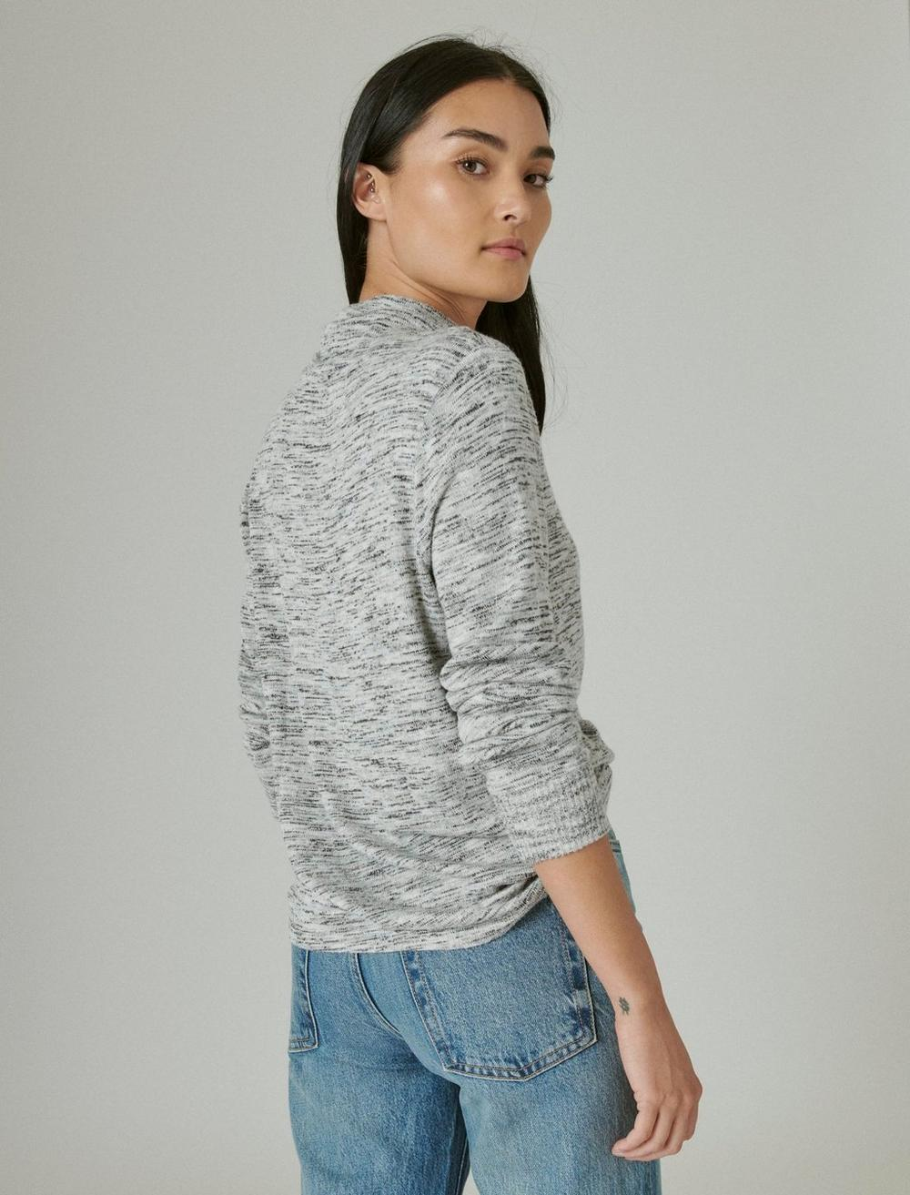 FUNNEL NECK CLOUD JERSEY PULLOVER, image 4