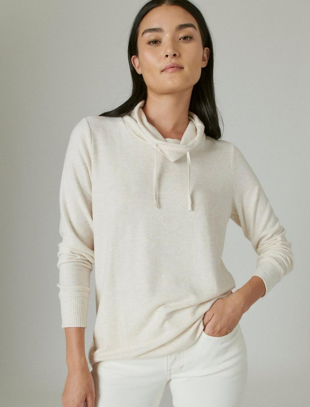 FUNNEL NECK CLOUD JERSEY PULLOVER, image 1