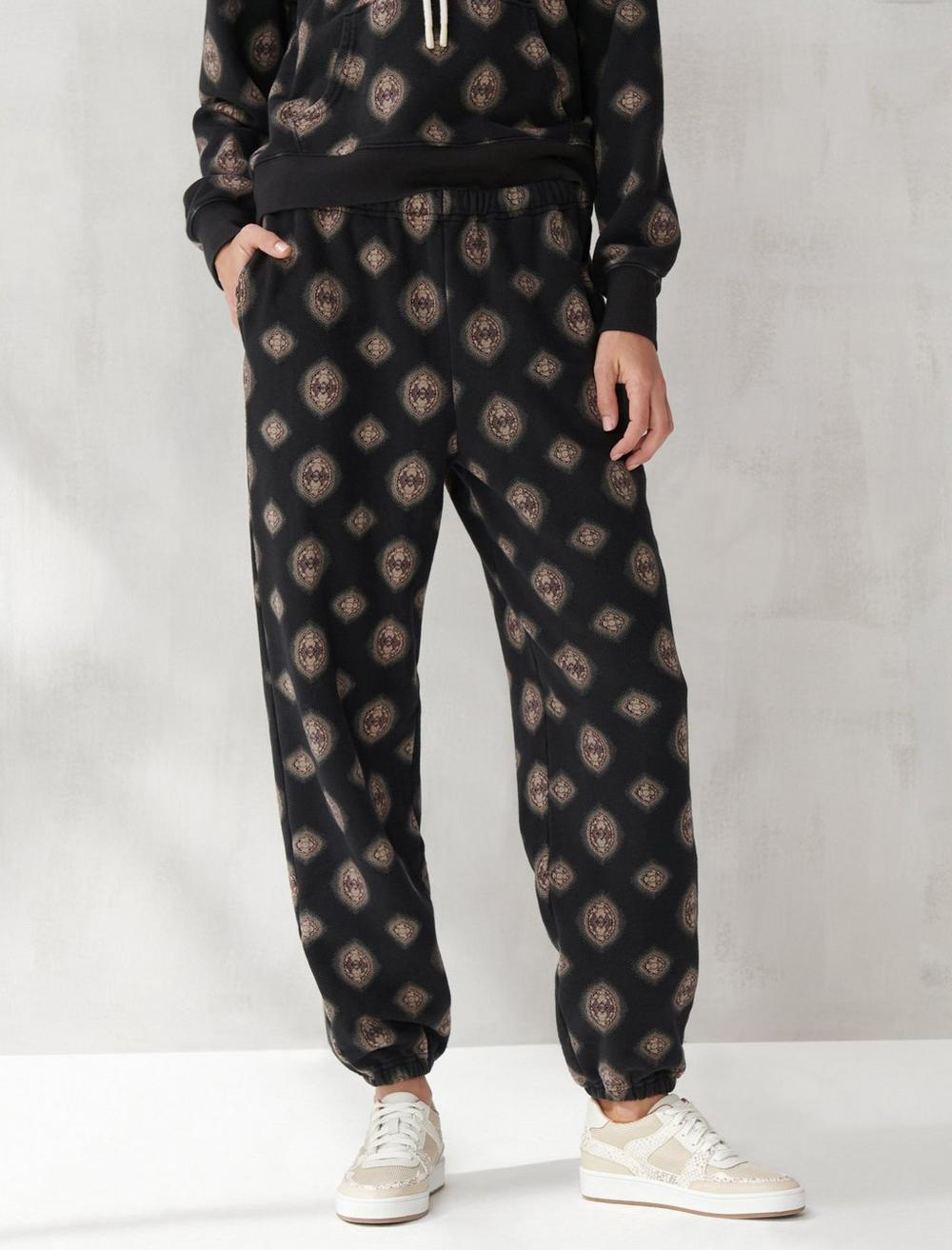 PRINTED SUEDED TERRY JOGGER, image 1