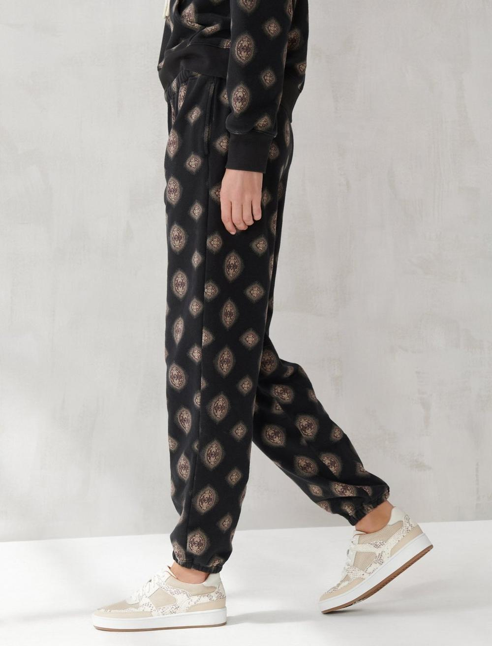 PRINTED SUEDED TERRY JOGGER, image 3