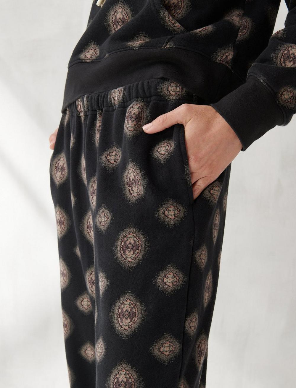 PRINTED SUEDED TERRY JOGGER, image 4