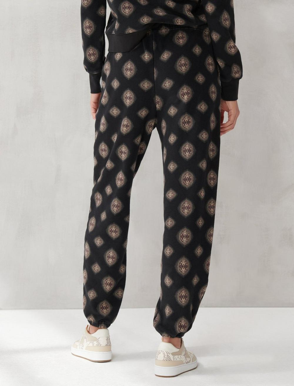 PRINTED SUEDED TERRY JOGGER, image 5