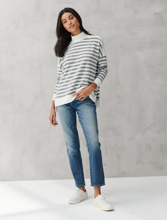 CLOUD JERSEY STRIPE TURTLENECK, GREY STRIPE, productTileDesktop