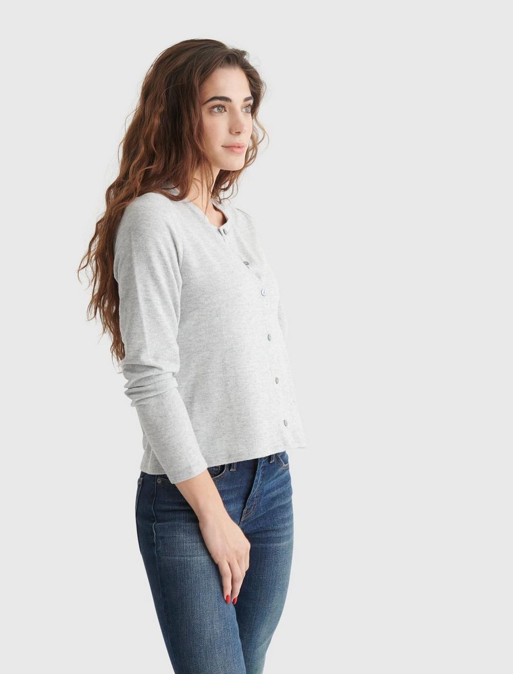 CLOUD JERSEY LONG SLEEVE BUTTON-UP TEE, image 3