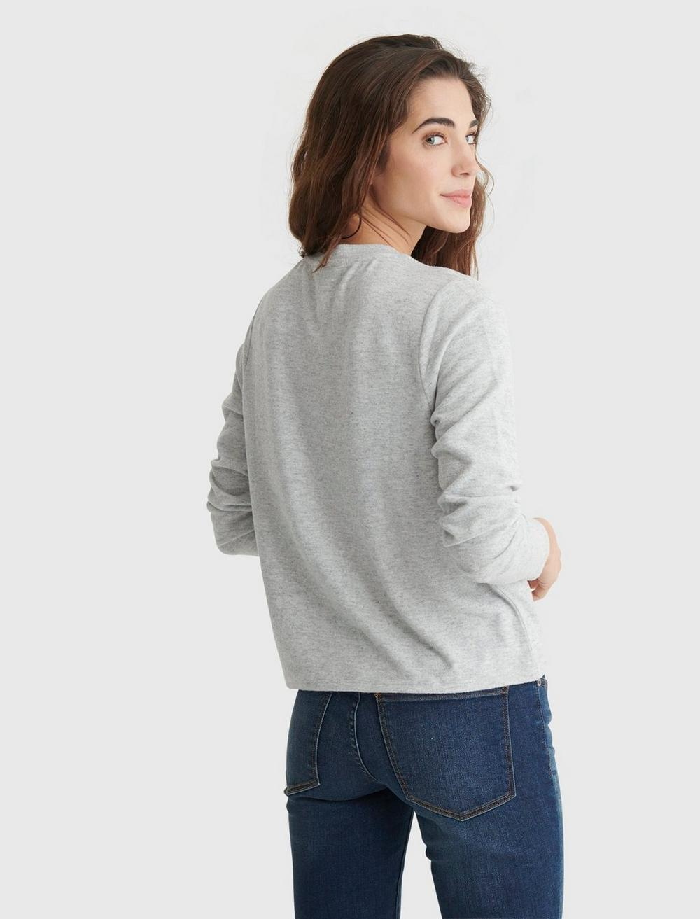 CLOUD JERSEY LONG SLEEVE BUTTON-UP TEE, image 5