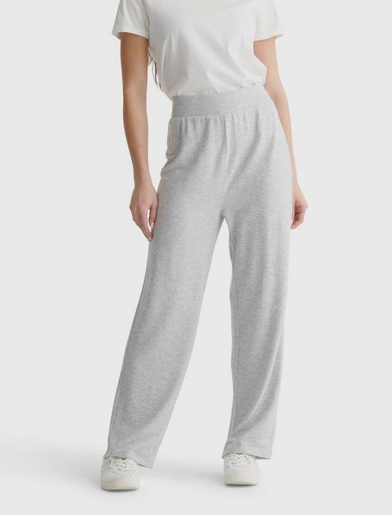 CLOUD JERSEY WIDE LEG PANT, HEATHER GREY, productTileDesktop