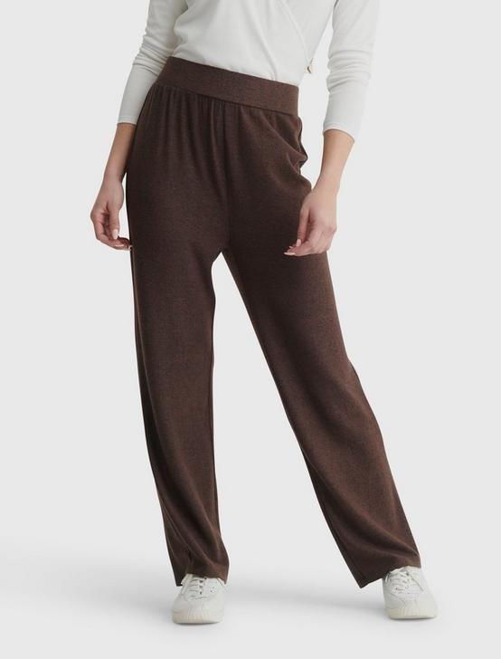 CLOUD JERSEY WIDE LEG PANT, DARK CHOCOLATE, productTileDesktop