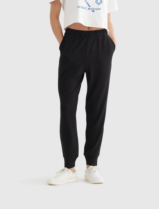 CLOUD JERSEY EASY JOGGER, JET BLACK, productTileDesktop