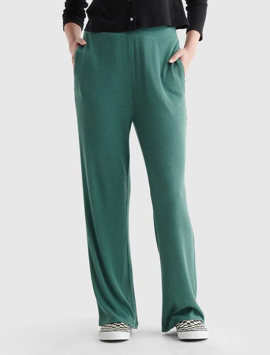 CLOUD JERSEY WIDE-LEG CROPPED PANT, SAGE BRUSH GREEN, productTileDesktop