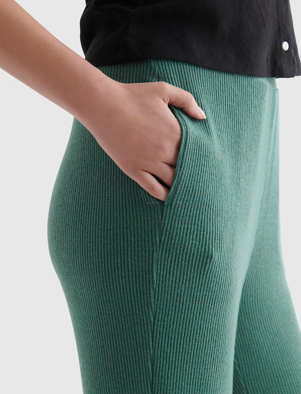 CLOUD JERSEY WIDE-LEG CROPPED PANT, image 3