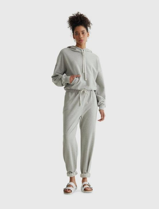 CHILL AT HOME FLEECE JOGGER, HEATHER GREY, productTileDesktop