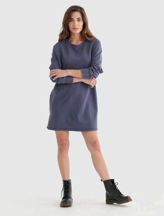 FLEECE-KNIT SWEATSHIRT DRESS, METROPOLIS, productTileDesktop