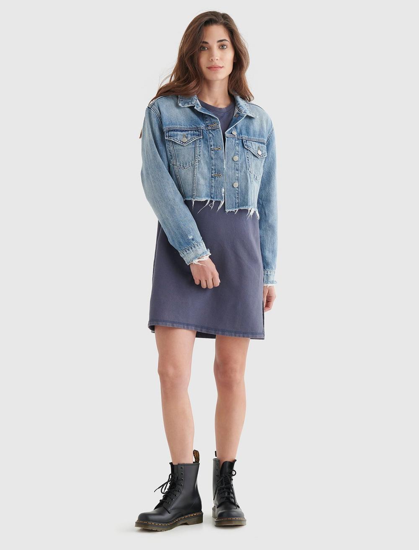FLEECE-KNIT SWEATSHIRT DRESS, image 3