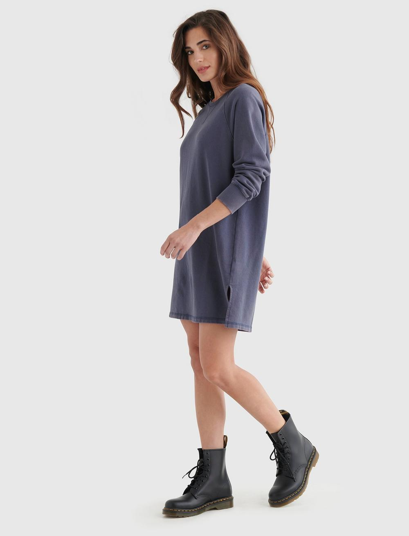 FLEECE-KNIT SWEATSHIRT DRESS, image 4