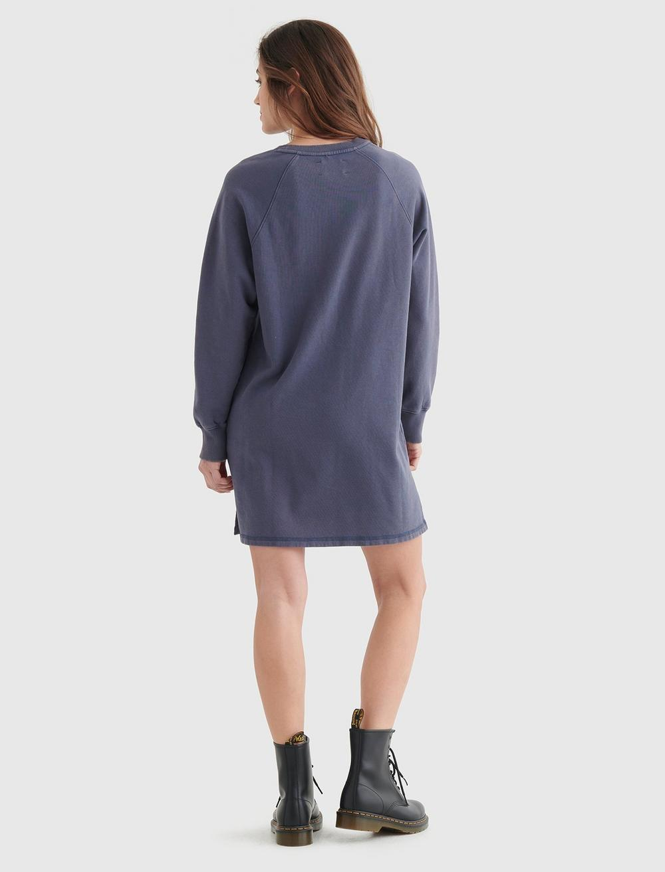 FLEECE-KNIT SWEATSHIRT DRESS, image 6