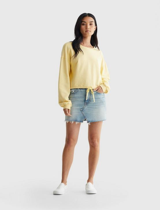 COOL FOR SUMMER CROPPED CREW, SUNDRESS YELLOW, productTileDesktop