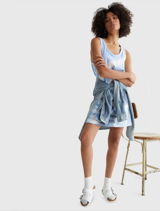 TANK SWEATSHIRT DRESS, BLUE TYE DYE, productTileDesktop