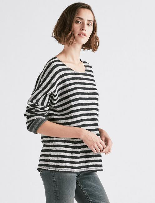 TERRY STRIPE PULLOVER,