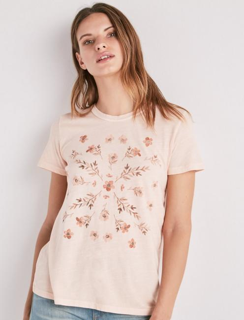 8d4ab2e938c Stamp Flowers Tee | Lucky Brand
