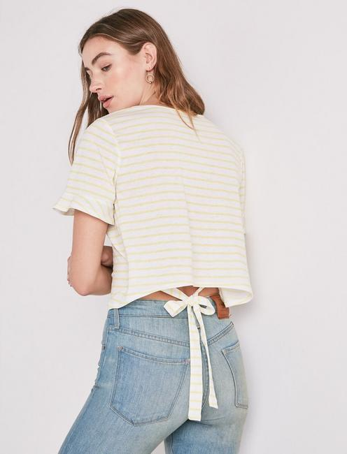 YELLOW STRIPE TEE, YELLOW MULTI