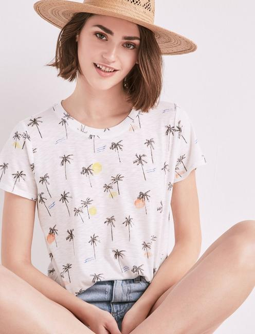 ALL OVER PALM TREE TEE,