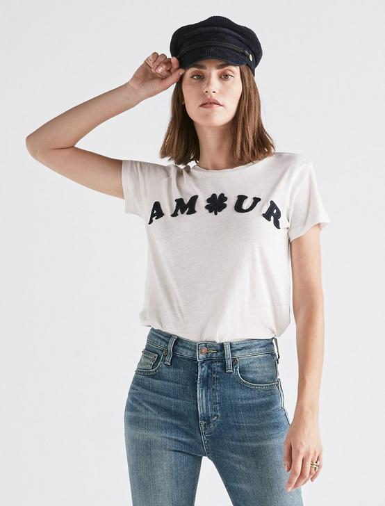 AMOUR CREW TEE, LUCKY WHITE, productTileDesktop