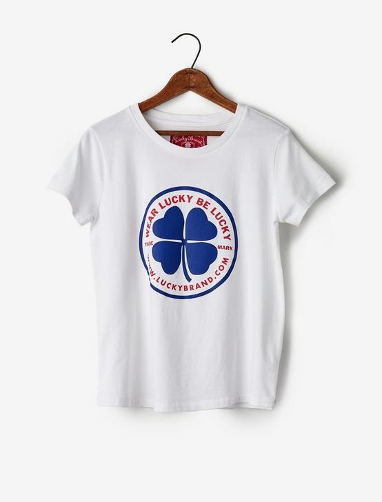 Totally Lucky Wear The Clover V-Neck Tee, BRIGHT WHITE, productTileDesktop