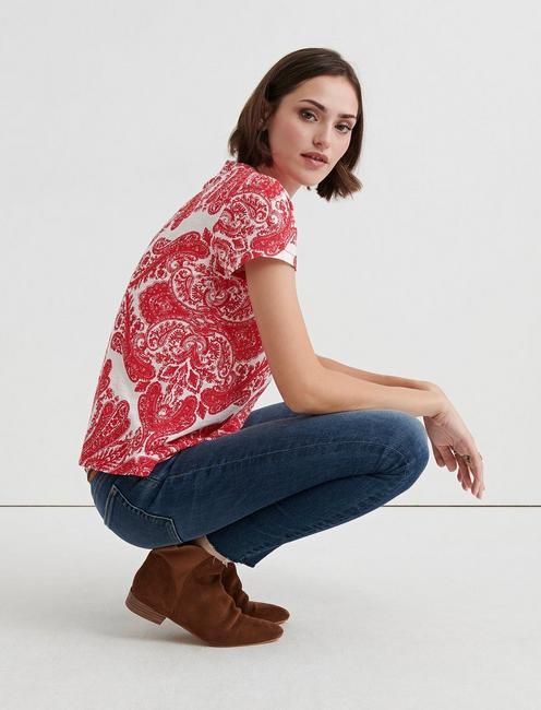 ALL OVER PRINT TEE, RED MULTI