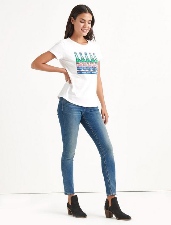 Totally Lucky Refreshing Crew Tee, BRIGHT WHITE, productTileDesktop