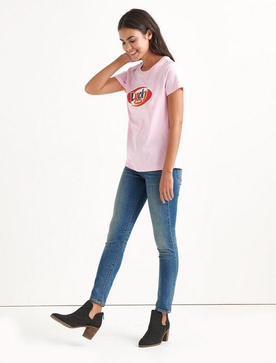 Totally Lucky Logo Tee, PINK LADY, productTileDesktop