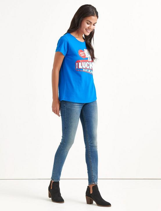 Totally Lucky Arrow Tee, PRINCESS BLUE, productTileDesktop