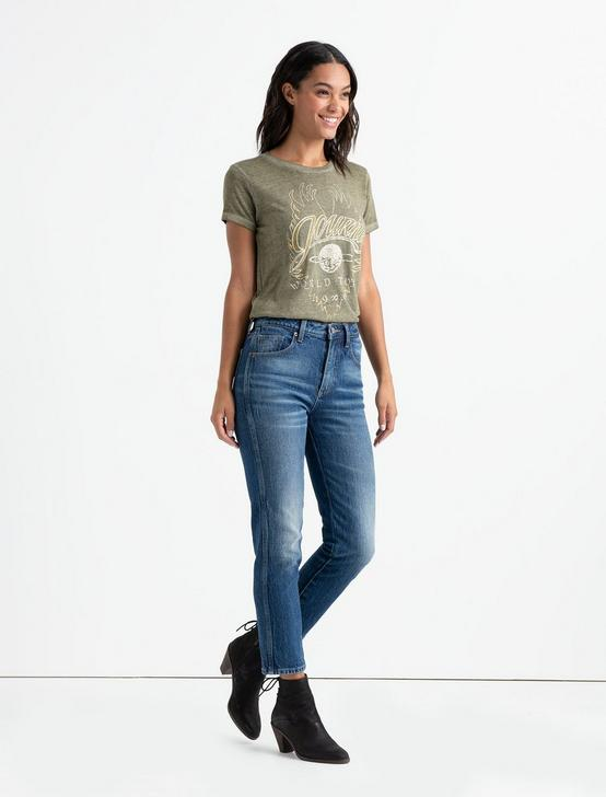 METALLIC JOURNEY TEE, OLIVE NIGHT, productTileDesktop