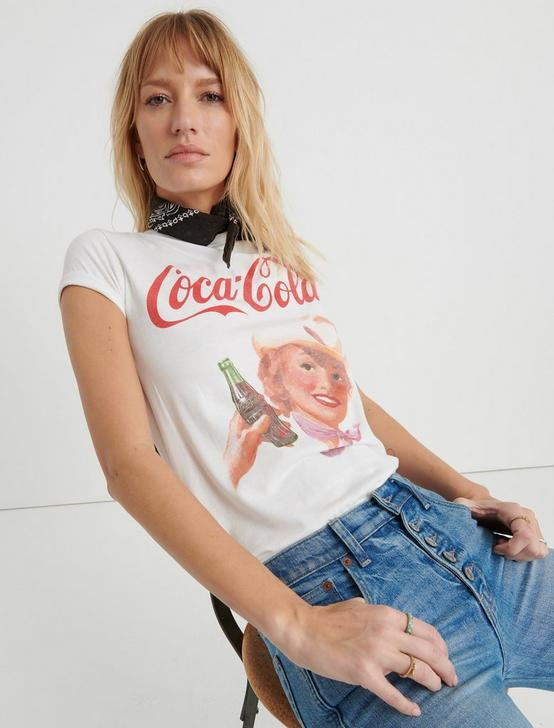 COCA COLA COWGIRL TEE, LUCKY WHITE, productTileDesktop