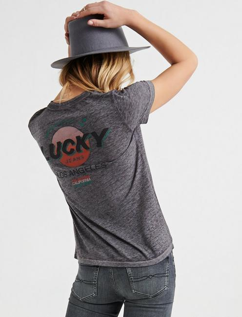 LUCKY LOS ANGELES TEE, HEATHER GREY