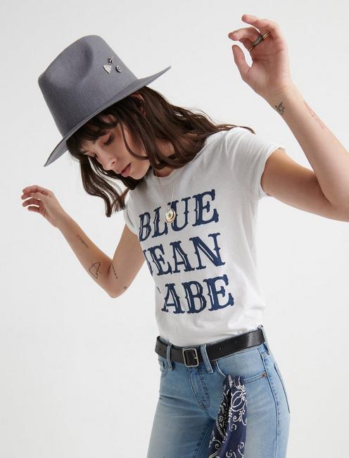 BLUE JEAN BABE TEE, LUCKY WHITE