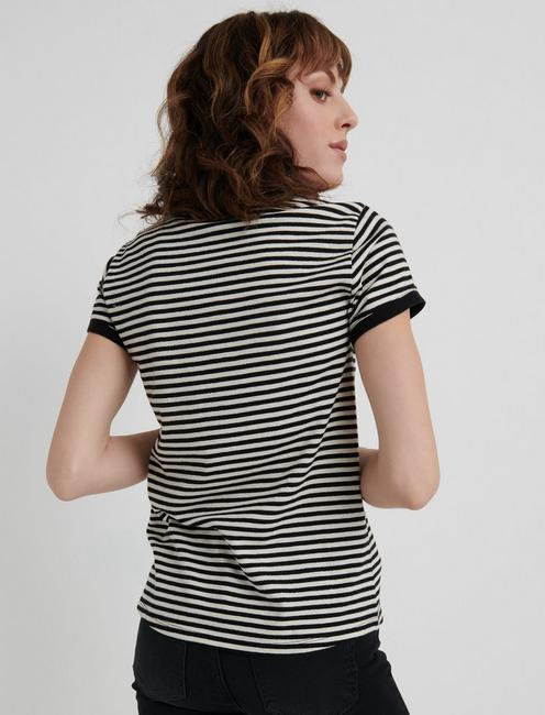 ST. PATRICKS STRIPE TEE, BLACK STRIPE
