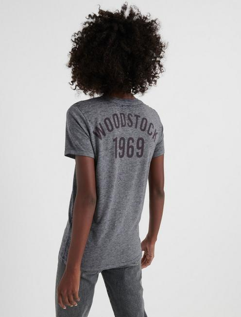 WOODSTOCK TEE, HEATHER GREY