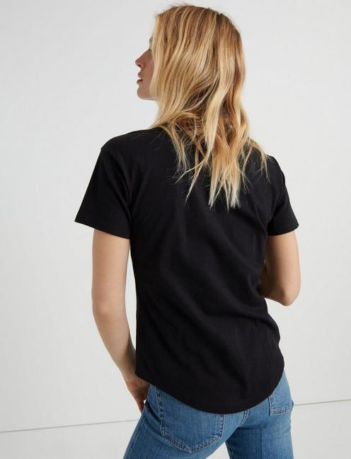 ESSENTIAL CREW NECK TEE, 001 LUCKY BLACK