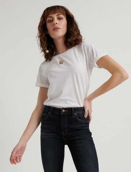 ESSENTIAL CREW NECK TEE, LUCKY WHITE, productTileDesktop