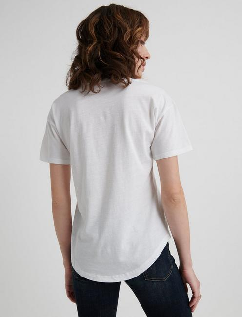 ESSENTIAL CREW NECK TEE, LUCKY WHITE