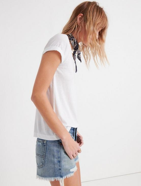VENICE BURNOUT V-NECK TEE, LUCKY WHITE, productTileDesktop