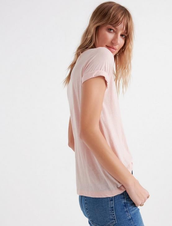 VENICE BURNOUT V-NECK TEE, ROSE SMOKE, productTileDesktop
