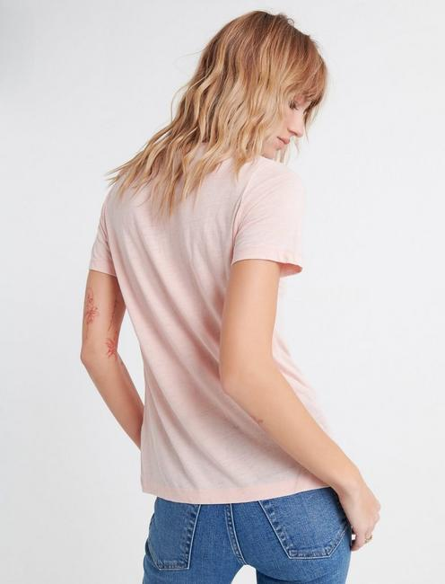 VENICE BURNOUT V-NECK TEE, ROSE SMOKE