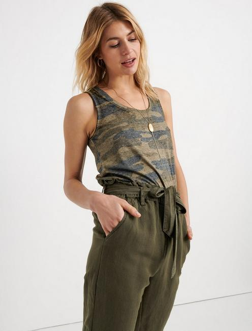 ESSENTIAL CAMO TANK, GREEN MULTI