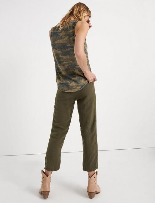 BURNOUT CAMO BASIC TANK, GREEN MULTI