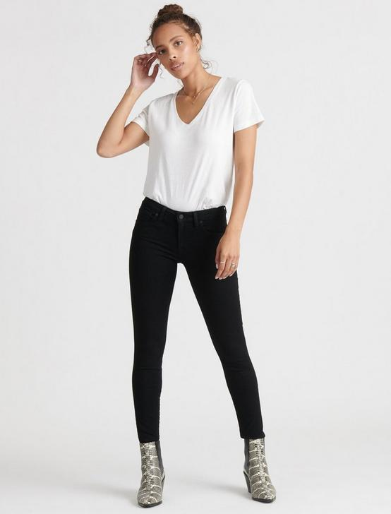 ESSENTIAL V-NECK TEE, OPTIC WHITE, productTileDesktop